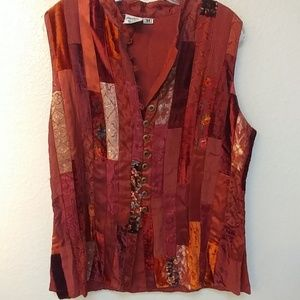 Patchwork quilted shirt or vest